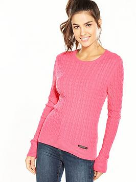 superdry-luxe-mini-cable-knit-fluoro-pink