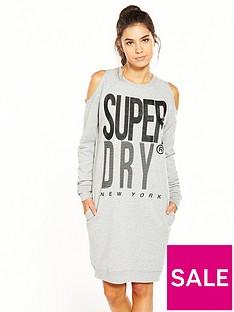 superdry-sport-cold-shoulder-dress-grey-marl