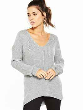 superdry-almeta-vee-knit-grey-ice