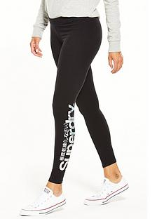 superdry-metallic-logo-legging-black