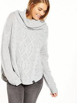 superdry-lia-cable-cowl-neck-jumper-grey-marl