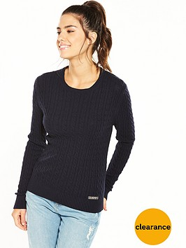 superdry-luxe-mini-cable-knit-navy