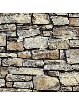 arthouse-cornish-stone-brown-wallpaper