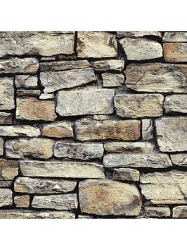 arthouse-cornish-stone-brown-wallpaper