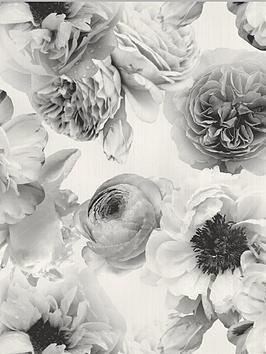 arthouse-diamond-bloom-floral-mono-wallpaper