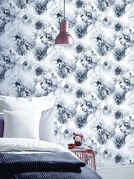 arthouse-diamond-bloom-floral-mono-wallpaper