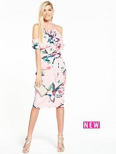 v-by-very-cold-shoulder-frill-dress