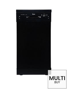 swan-sdw7050b-9-place-setting-slimline-freestanding-dishwasher-black