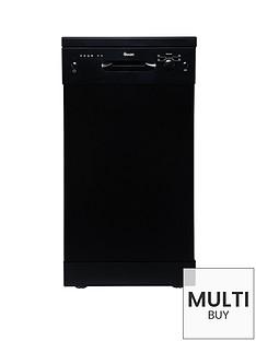swan-sdw7050b-9-place-setting-slimline-freestanding-dishwasher-black