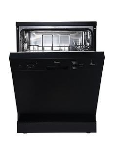 Swan SDW7070B 14 Place Setting Fullsize Freestanding Dishwasher - Black Best Price, Cheapest Prices