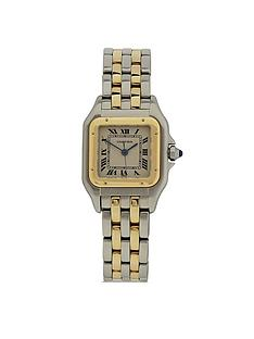 cartier-cartier-preowned-panthere-off-white-dial-bimetal-ladies-watch-ref-1120