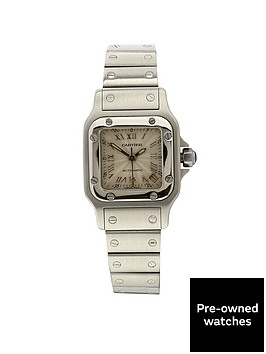cartier-cartier-preowned-santos-automatic-silver-gulloche-dial-ladies-watch-ref2423