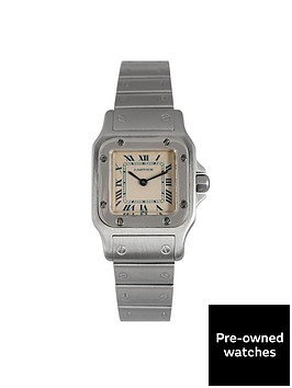 cartier-cartier-preowned-santos-off-white-dial-stainless-steel-ladies-watch-ref9057930
