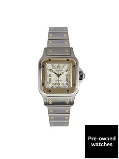 cartier-cartier-preowned-santos-silver-dial-stianless-steel-ladies-watch-2423