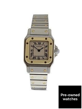 cartier-cartier-preowned-santos-off-white-dial-two-tone-stainless-steel-ladies-watch-ref1567