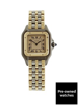 cartier-pre-owned-panthere-off-white-dial-bimetal-ladies-watch-ref-w25029b6