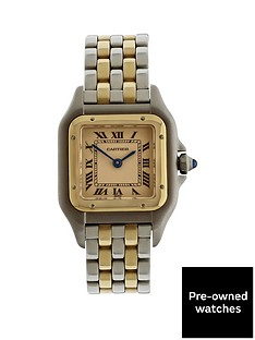 cartier-pre-owned-panthere-off-white-dial-bimetal-ladies-watch-ref-1120