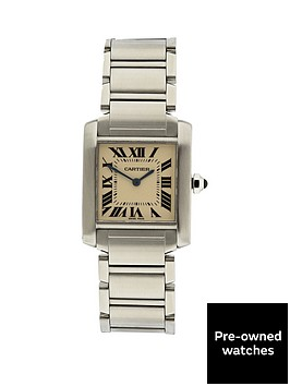 cartier-pre-owned-tank-francaise-off-white-dial-stainless-steel-midsize-watch-ref-w51011q3