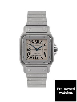 cartier-cartier-preowned-santos-automatic-sillver-guilloche-dial-stainless-steel-mens-watch-ref-2319