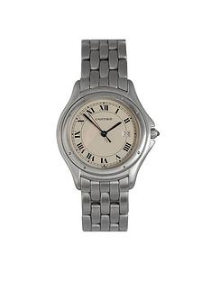 cartier-pre-owned-panthere-cougar-off-white-dial-mens-watch-ref-987904