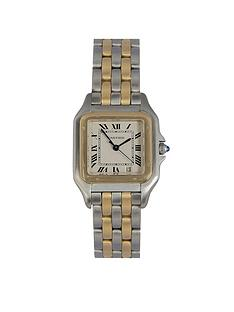 cartier-pre-owned-panthere-off-white-dial-bimetal-mens-watch-ref-110