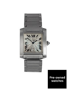 cartier-cartier-preowned-francaise-off-white-dial-stainless-steel-mens-watch-ref2302