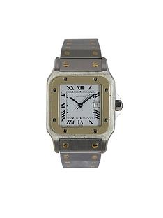 cartier-cartier-preowned-santos-automatoc-white-dial-stainless-bimetal-gents-watch-ref1172981