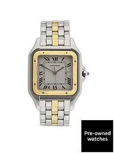 cartier-cartier-preowned-jumbo-panthere-off-white-dial-bimetal-mid-size-watch