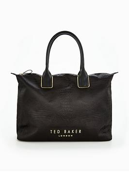 Ted Baker Exotic Detail Large Tote Bag - Black | very.co.uk