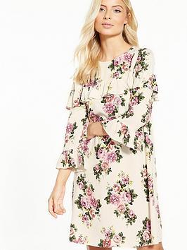 v-by-very-long-sleeve-cross-body-ruffle-dress