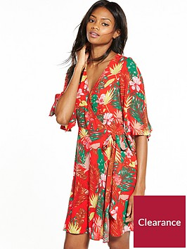 v-by-very-short-sleeve-floral-skater-dress