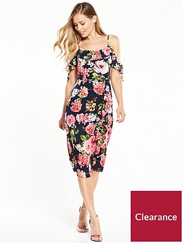 v-by-very-frill-front-midi-dress