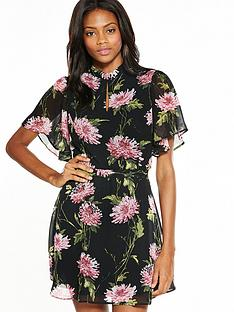 v-by-very-fluted-sleeve-tea-dress
