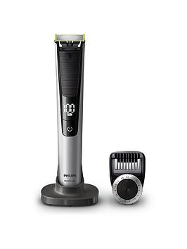 Philips Oneblade Pro Hybrid Trimmer And Shaver With 14-Length Comb (Uk 2-Pin Bathroom Plug)- Qp6520/30