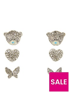 me-to-you-me-to-you-tatty-teddy-silver-plated-set-of-3-bear-heart-and-butterfly-crystal-set-earrings