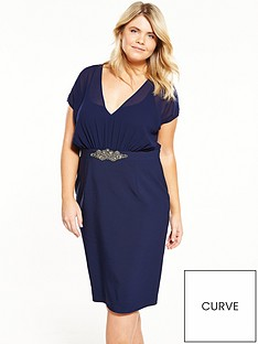 little-mistress-curve-embellished-waistband-v-neck-midi-dress
