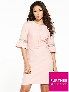 oasis-lace-bell-sleeve-dress