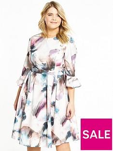 little-mistress-curve-prom-length-bell-sleeve-midi-dress