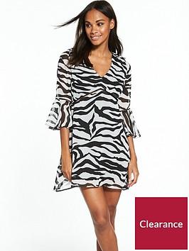 rare-zebra-print-34-sleeve-day-dress