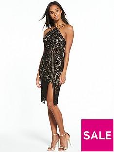 rare-lace-apron-neck-side-split-midi-dress