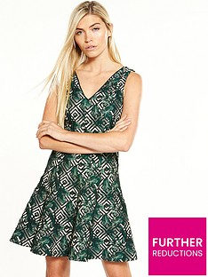 oasis-tropical-geo-jacquard-dress