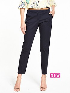 wallis-wallis-navy-belted-cigarette-trouser