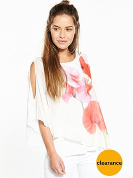wallis-petite-poppy-print-overlay-top
