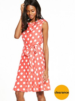 wallis-spot-fit-and-flare-dress