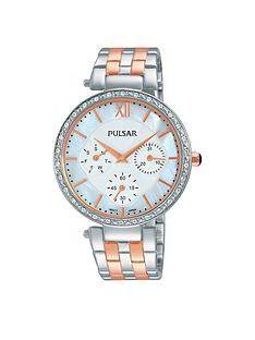 pulsar-white-multi-dial-swarovski-element-bezel-stainless-steel-bracelet-ladies-watch