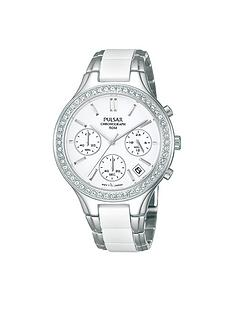 pulsar-white-dial-chronograph-swarovski-element-bezel-ladies-bracelet-watch