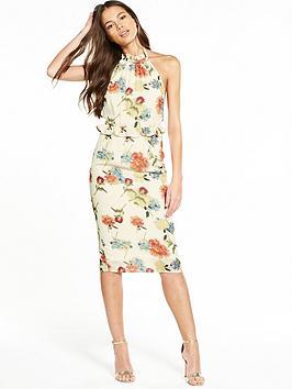 Hope & Ivy Halter Neck Floral Dress
