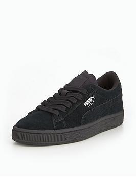 puma-suede-junior-trainers-black