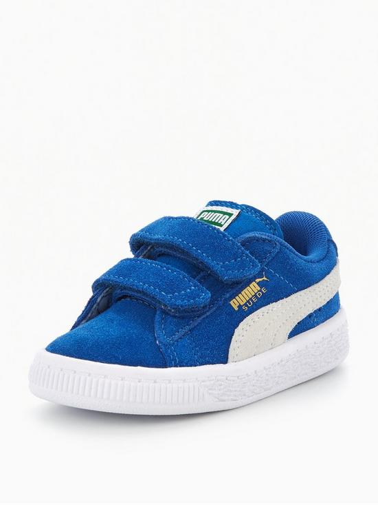 puma suede 2 strap infant trainers