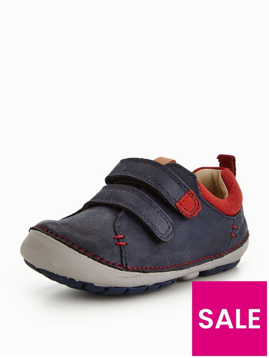 Clarks Tiny Toby Boys First Shoes 5 H Navy g8FmHRL